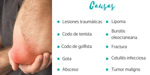 Bulto en el codo: causas y tratamiento