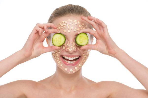 Mascarilla de pepino casera para el acné - Mascarilla de pepino y avena