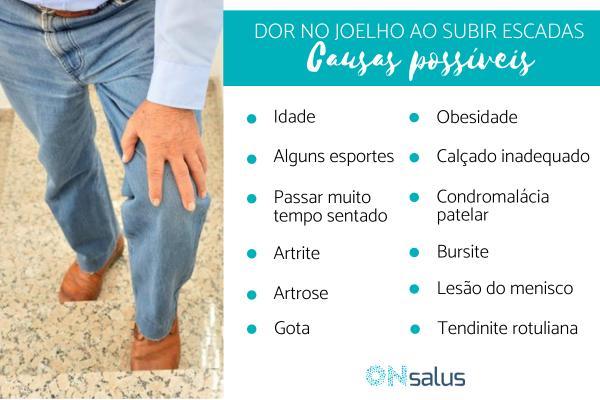 Dor no joelho ao subir escada: causas e tratamento
