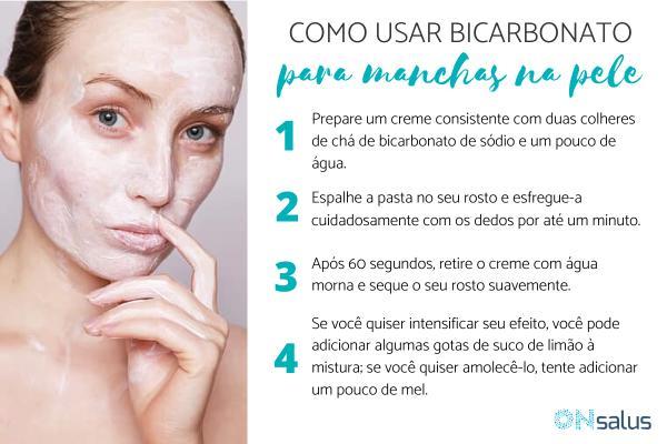 Como usar bicarbonato para tirar manchas na pele