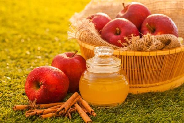 Tratamento caseiro para espinhas e pele oleosa - Vinagre de maçã retira oleosidade da pele